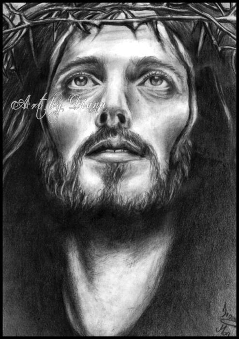 portrait of jesus christ by vampire countess on stars portraits